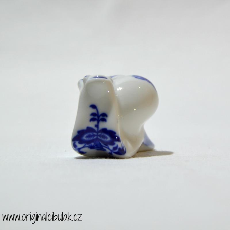 Cibulák Šnek 6,5 cm originální cibulákový porcelán Dubí, cibulový vzor,