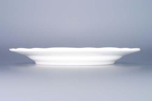 Porcelánový talíř bílý mělký 24cm Český porcelán 1.jakost