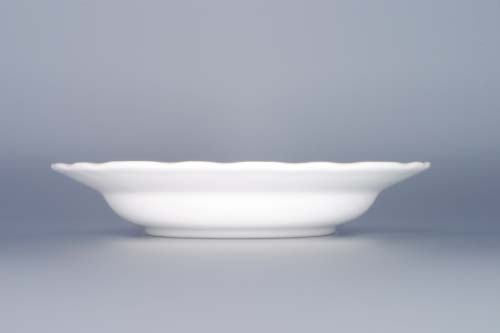Talíř porcelánový bílý hluboký 21 cm Český porcelán Dubí