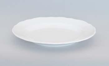 Talíř porcelán bílý mělký 21 cm Český porcelán Dubí