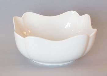Mísa porcelán bílý salátová čtyřhranná vysoká 21 cm Český porcelán Dubí