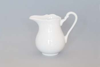 Mlékovka porcelán bílý vysoká 0,16 l Český porcelán Dubí