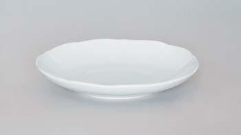 Podšálek porcelán bílý bujón, 17,5 cm Český porcelán Dubí