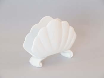 Stojánek na ubrousky porcelán bílý 13 cm Český porcelán Dubí