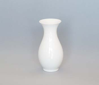 Váza porcelán bílý 1210/2 20 cm Český porcelán Dubí