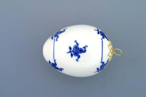 Cibulák velikonoční vajíčko závěsné 7,5 cm originální cibulákový porcelán Dubí, cibulový vzor