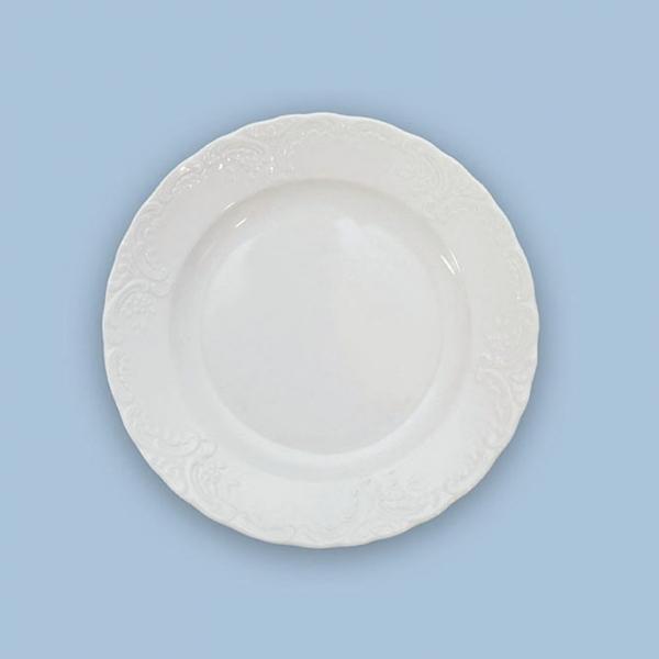 Talíř dezertní porcelánový bílý Opera 19,5 cm Český porcelán Dubí