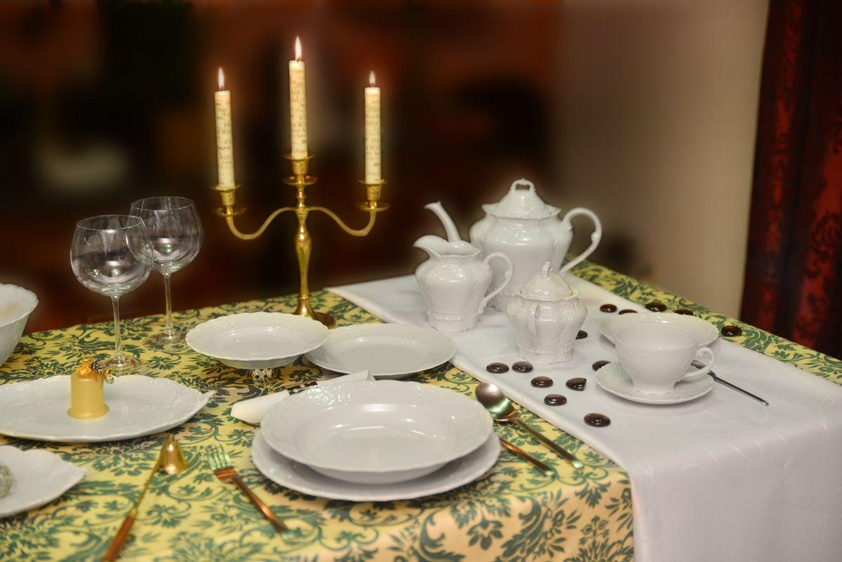Šálek čajový porcelánový bílý Opera Český porcelán Dubí