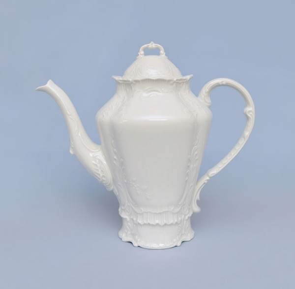 Konvice kávová porcelánová bílá Opera 1,2 l Český porcelán Dubí