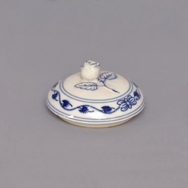 Víčko bez výřezu k cibulákové cukřence 0,30 l originální cibulákový porcelán Dubí, cibulový vzor