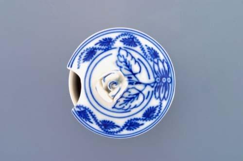 Víčko s výřezem k hořořčičníku 0,10 l originální cibulákový porcelán Dubí, cibulový vzor