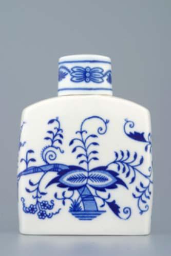 Tělo dózy na čaj 12 cm originální cibulákový porcelán Dubí, cibulový vzor,