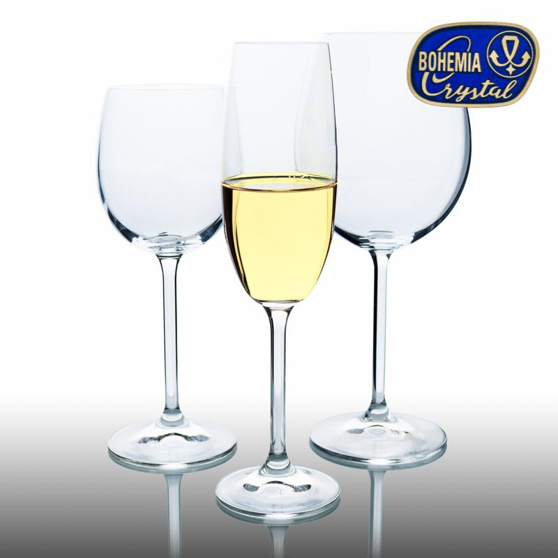 Skleničky šampaň miska Lara 210 ml Crystalex CZ, křišťálové skleničky