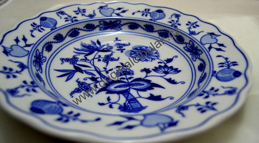 talíř hluboký 21 cm 10001 Český porcelán Dubí