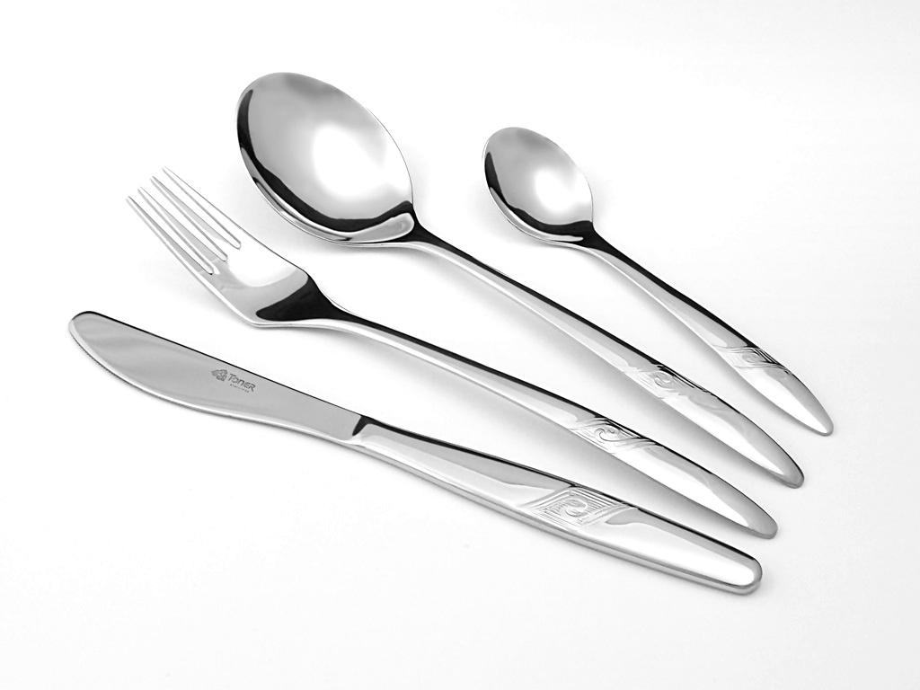 příbory jídelní Romance souprava pro 6 osob 24 ks Toner nerez