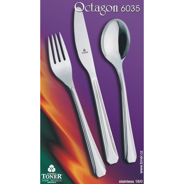 Příbory jídelní TONER Octagon sada 24 ks pro 6 osob nerez 6035