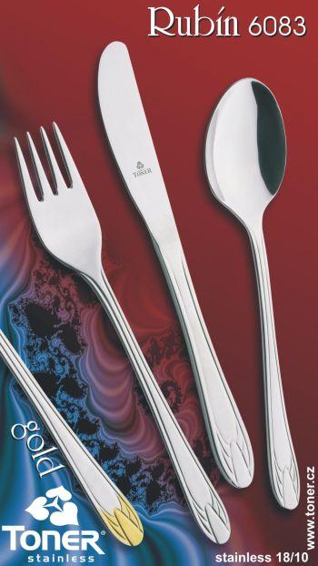 Příbory TONER Rubín sada jídelní 24 ks pro 6 osob nerez 6083