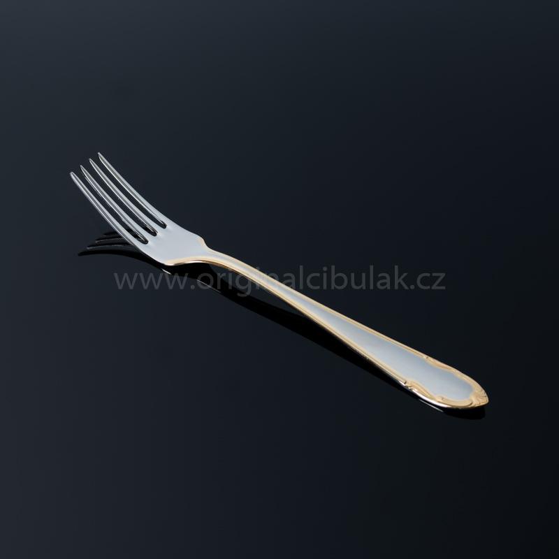 Příbory sada jídelní Classic Gold zlacená pro 6 osob 24 ks Toner nerez