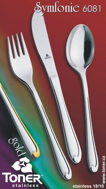 Příbory TONER Symfonie jídelní sada 24 ks pro 6 osob nerez 6081