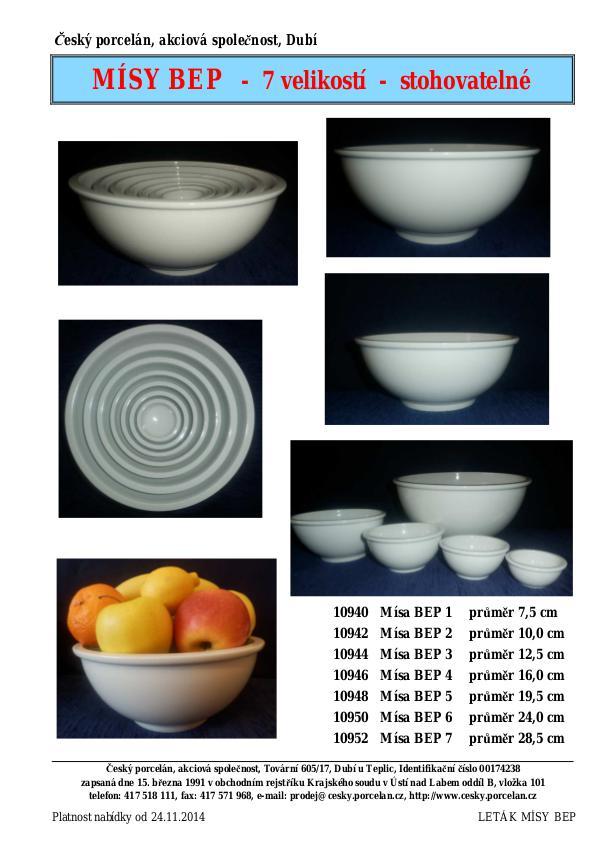 Mísa kulatá bílá Bep3 12,5cm český porcelán Dubí