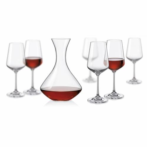 sada sklenic a lahev Sandra Wine Set Crystalex 7 kusů