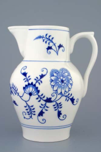 Cibulák džbán vysoký 1,50 l český porcelán Dubí
