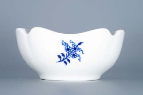 Cibulák popelník čtyřhranný 12,5 cm originální cibulákový porcelán Dubí, cibulový vzor
