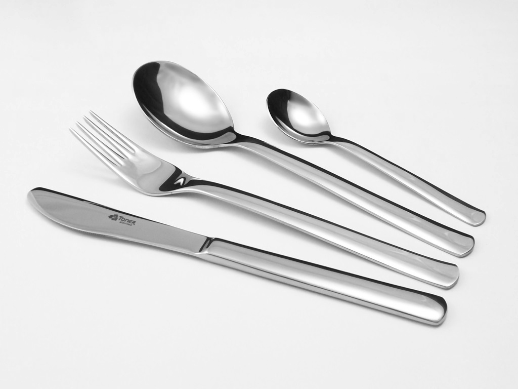 Příbory TONER Progres jídelní sada 24 ks pro 6 osob nerez 6016