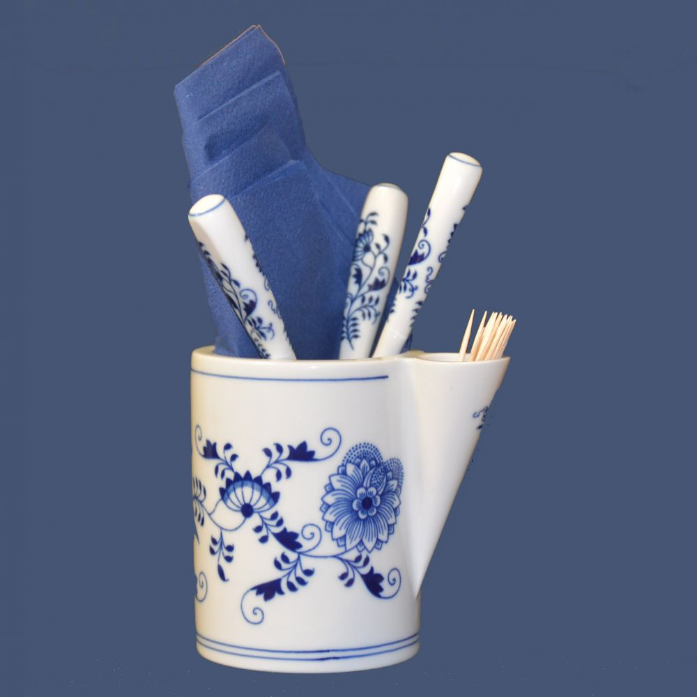 Cibulák dóza ke stolování, 12 cm, originální cibulákový porcelán Dubí, cibulový vzor,