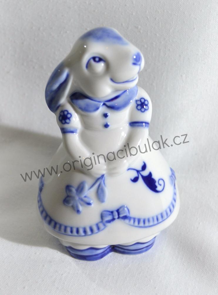 Cibulák Zaječice 10 cm originální cibulákový porcelán Dubí, cibulový vzor,