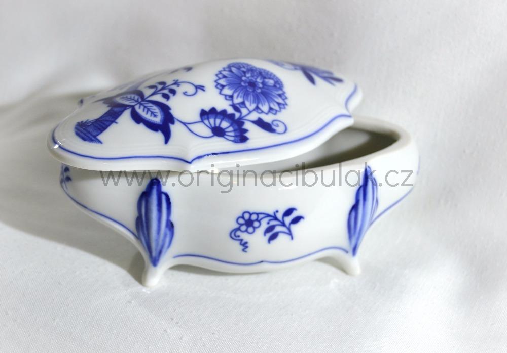 Cibulák Dóza Hana Český porcelán Dubí , cibulákový porcelán,