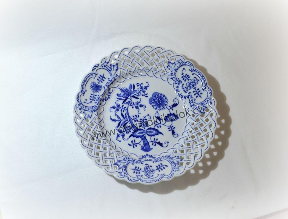 talíř prolamovaný 27 cm 10154 cibulák český porcelán Dubí
