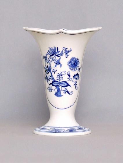 Cibulák Váza 20 cm Dux 505/3, originální cibulákový porcelán Dubí, cibulový vzor, 2.jakost