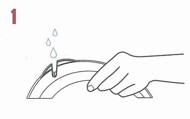 bruska na nože Collini 18 cm bílá