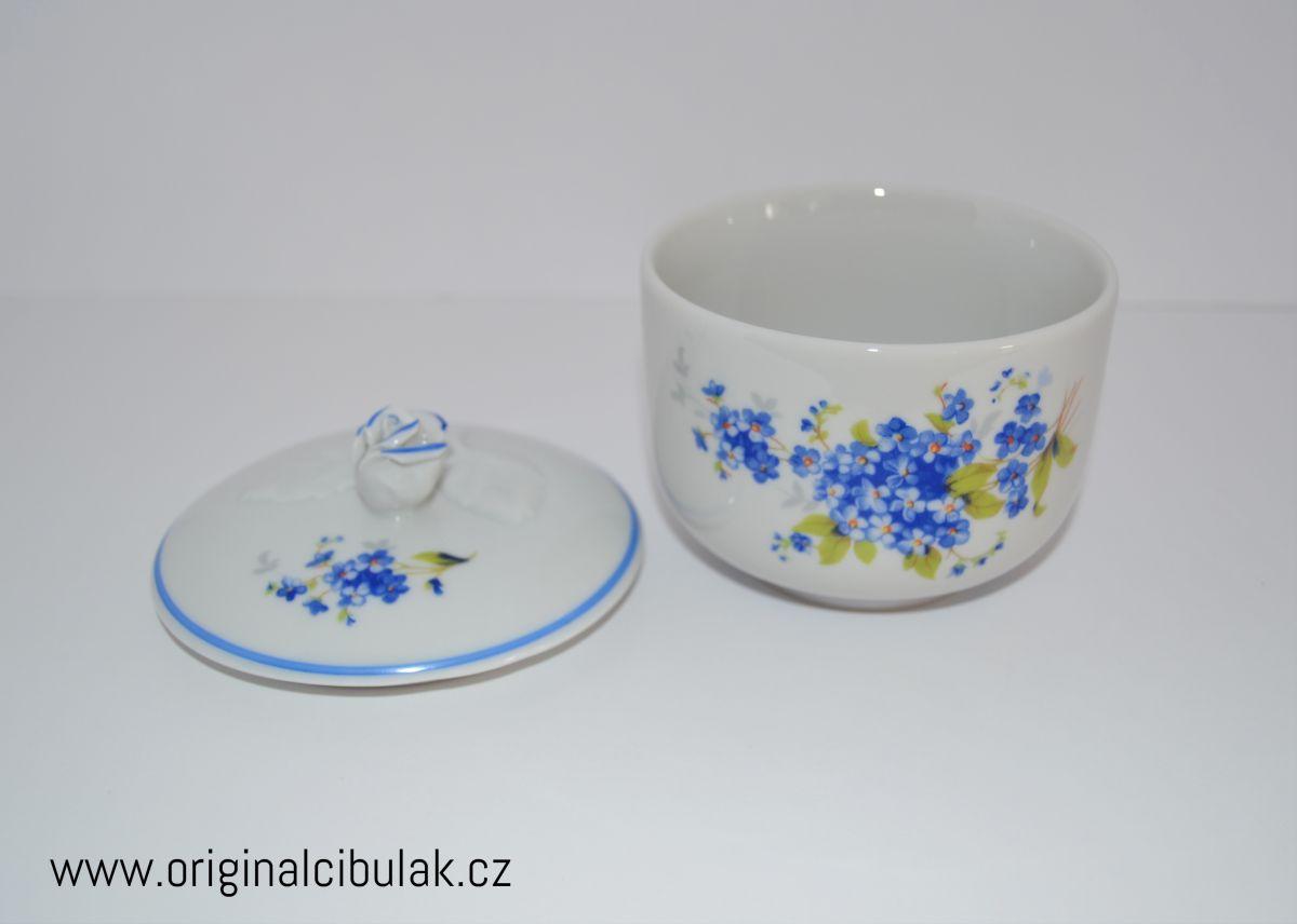 Cukřenka Pomněnky modrá 0,20 l Český porcelán Dubí modrá linka