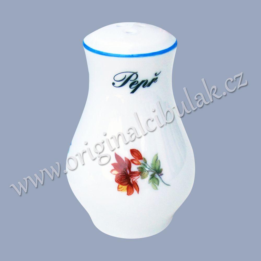 Pepřenka sypací 7,5 cm házenka Rakouská modrá linka originální porcelán Dubí