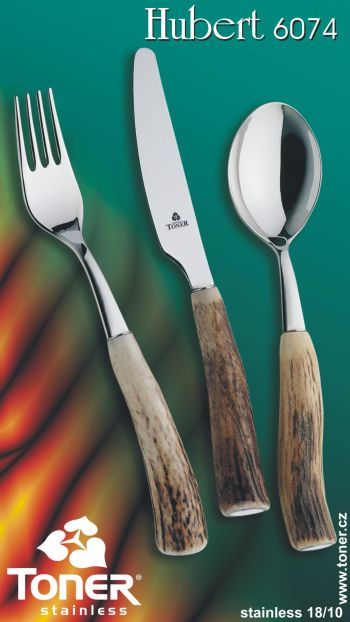 vidlička Toner Hubert jídelní pravé paroží 1 ks