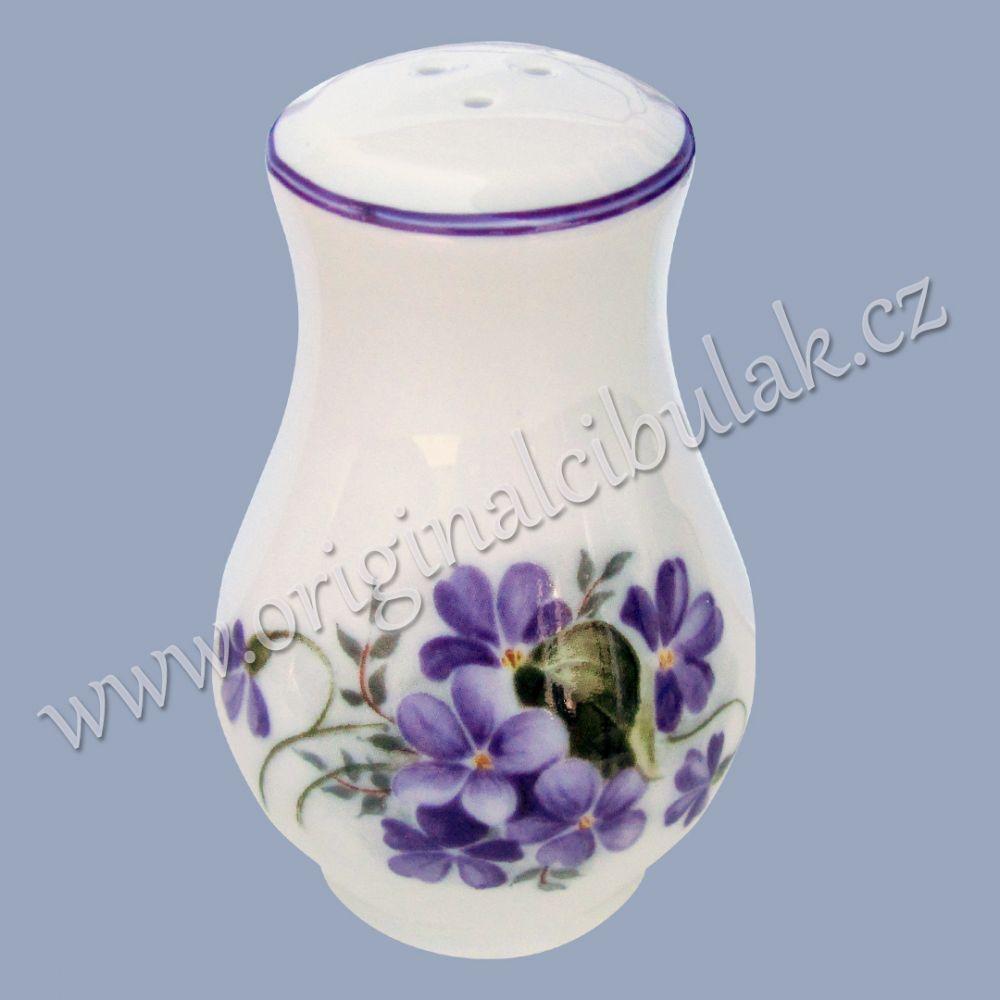 Pepřenka sypací fialka 7,5 cm Český porcelán Dubí fialová linka