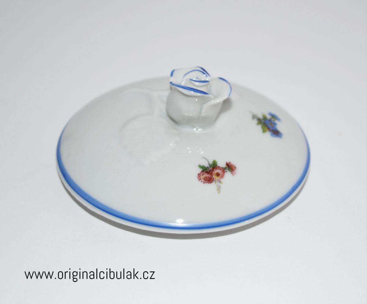 Cukřenka Házenka modrá 0,20 l Český porcelán Dubí
