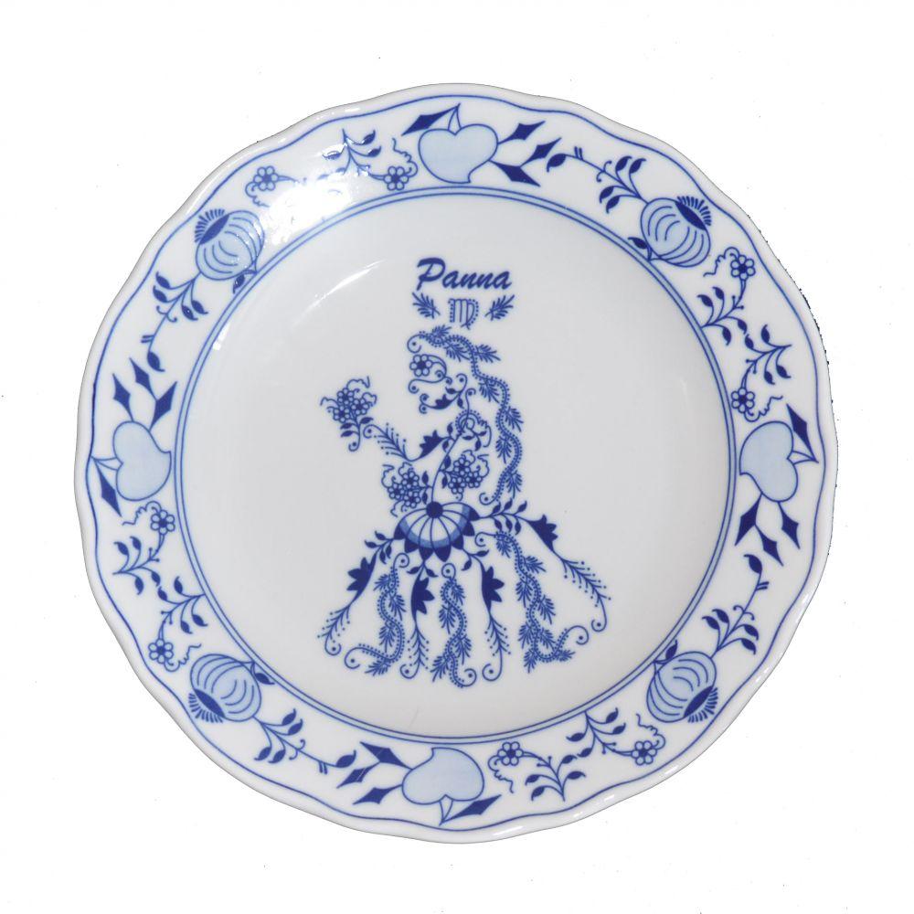 Cibulák talíř 24 cm zvěrokruh Panna horoskop Český porcelán Dubí 1.jak