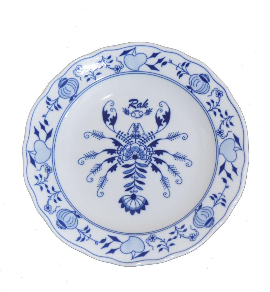 Cibulák talíř 24 cm zvěrokruh Rak horoskop Český porcelán Dubí