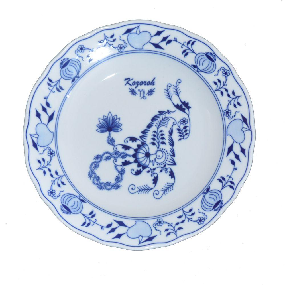 Cibulák talíř 24 cm zvěrokruh Kozoroh horoskop Český porcelán Dubí