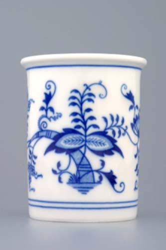 Cibulák hrnek Akce 5+1 Zdarma kalíšek toaletní bez ouška 0,25 l originální cibulákový porcelán Dubí, cibulový vzor, 2.jakost