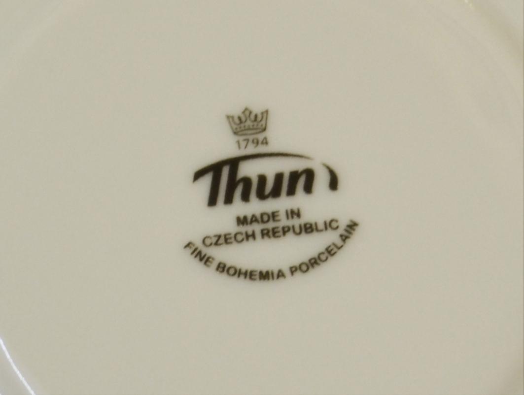 Loos kávová souprava porcelán Thun 6 osob 15 dílů český porcelán Nová Role