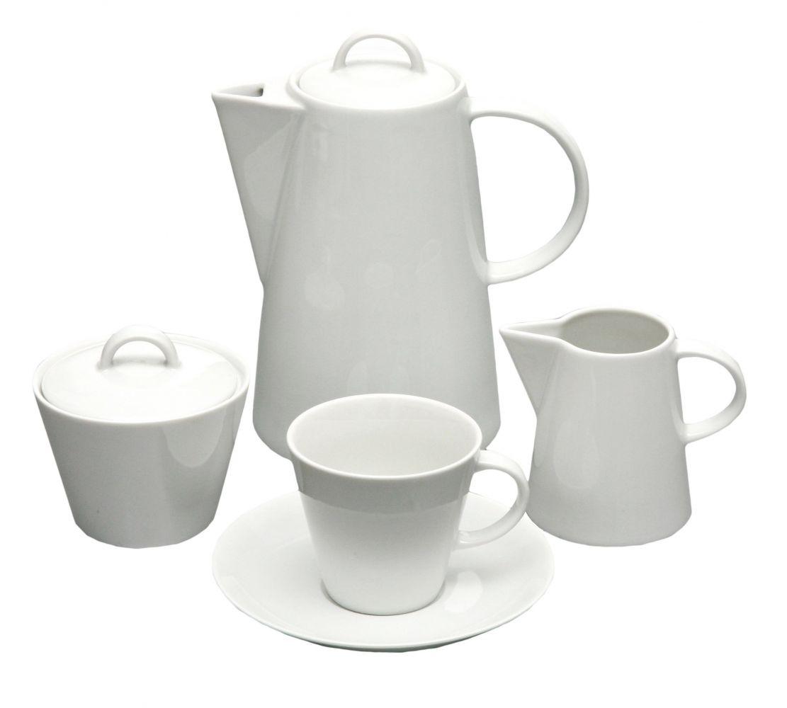 kávová souprava Tom bílý porcelán Thun a.s. 6 osob 15 dílů český porcelán Nová Role