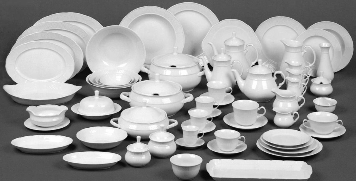 talířová souprava Natalie Thun 6 osob 18 dílů porcelán Nová Role