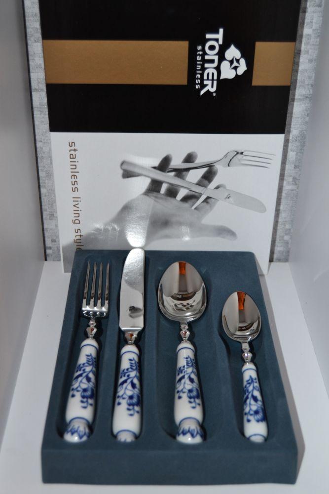 Cibulák souprava příbory 4 ks Toner Luxusní varianta nůž,vidlička,lžíce,lžička