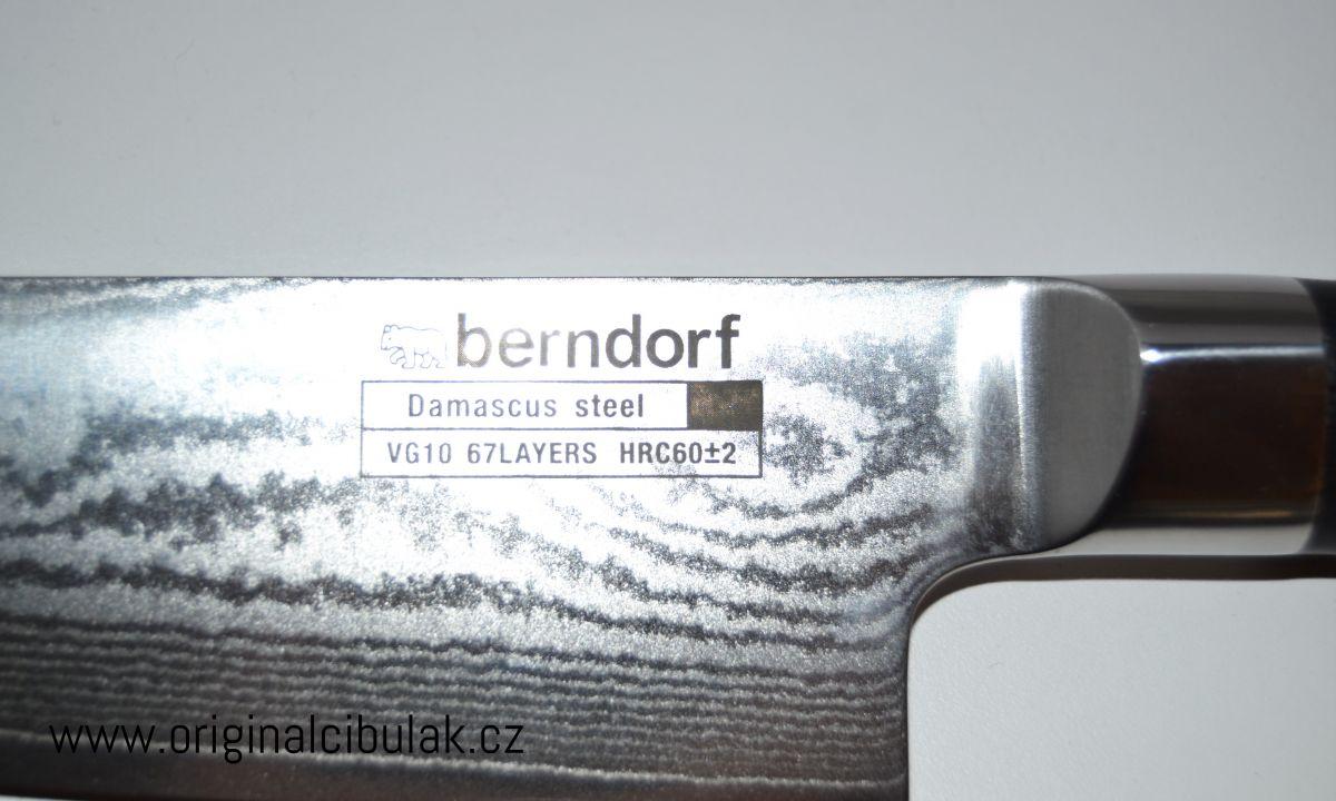 Berndorf Sandrik Hanamaki damaškový kuchařský nůž 20 cm