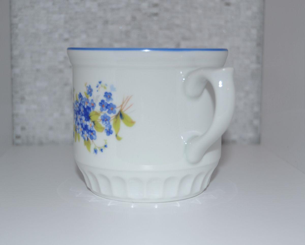 hrnek pomněnky Selský poměnka modrá linka český porcelán Dubí