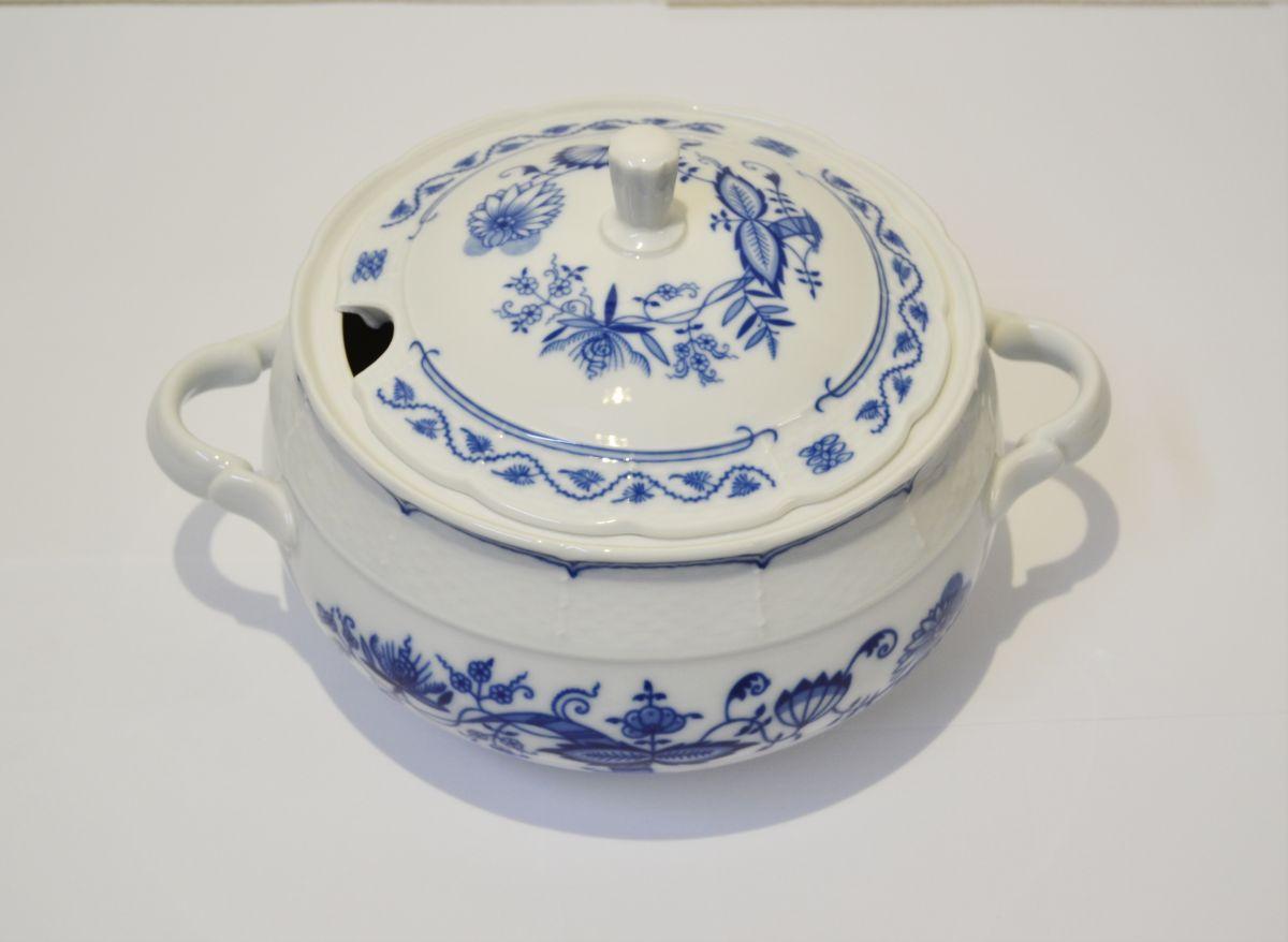 cibulák polévková mísa terina Natalie Thun 2,7 L 1 ks cibulákový porcelán Nová Role